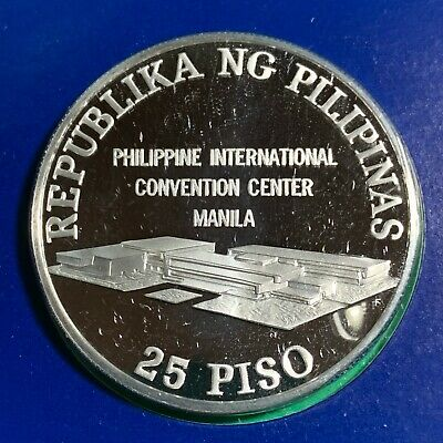 Philippines 1979 25 Piso Commem Silver, United Nations Conference, Unc Proof