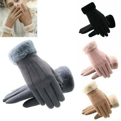 Fashion Touch Screen Gloves Winter Warm Suede-lined Full Finger Windproof Gloves