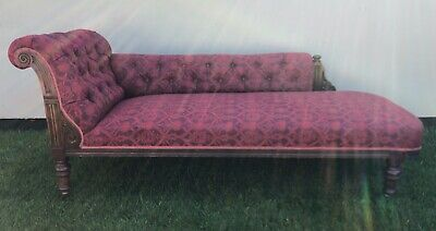 Chaise/Daybed Antique Mahogany circa 1900.