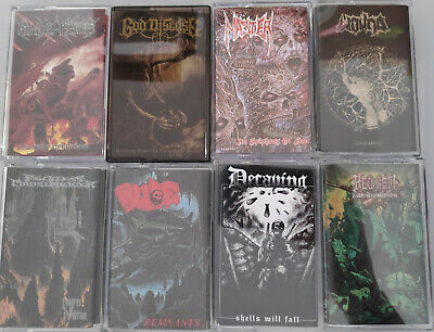 DEATH METAL PAKET - 8x KASSETTEN / TAPES - NEW/NEU