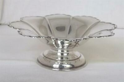 A Stunning Antique Solid Sterling Silver Edward Vii Tazza / Comport Dates 1907.