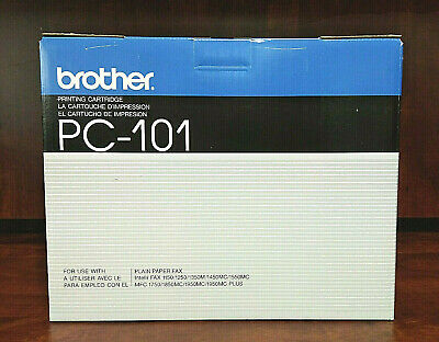 Genuine OEM Brother PC 101 Printing Cartridge For Plain Paper Fax, NIB
