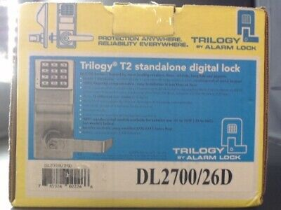 Trilogy by Alarm Lock T2 Stand Alone Digital Lock DL2700IC/26D - New Open Box