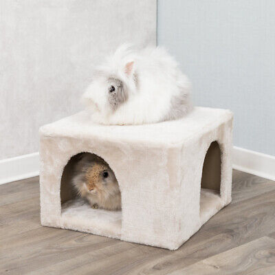 Trixie Cuddle Cave Hide Away Cosy Bed - Beigh - Rabbits & Guinea Pig House