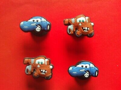 2 Mater from Cars jibbitz crocs shoe charms loom wrist hair bands cake toppers
