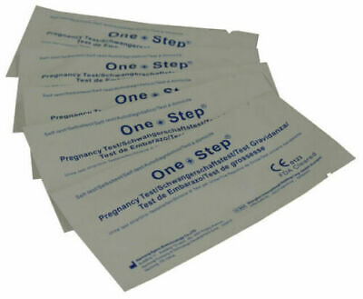 One Step® 20 Highly Sensitive 10mIU Pregnancy Test Strips test 6 days earlier!