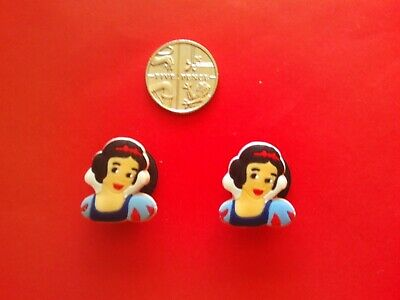 2 Snow White jibbitz crocs shoe charms loom wrist hair bands cake toppers