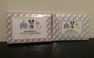 Disney Baby Memories Keepsake Photo Book & Photo Envelopes Mickey Blue & Pink