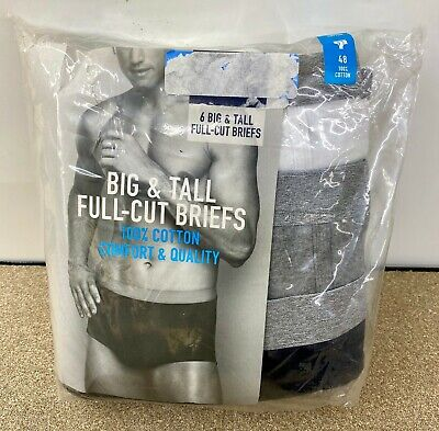Stafford 6 Big & Tall Full Cut Briefs 100% Cotton Various Sizes and Color