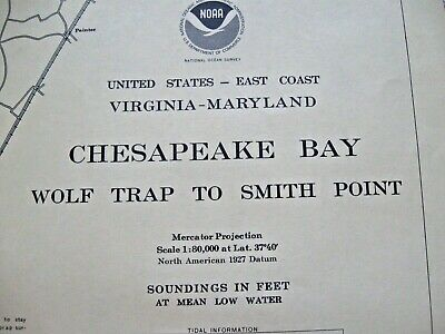 Navigational Map - Chesapeake Bay - Wolf Trap To Smith Point - Chart No. 12225