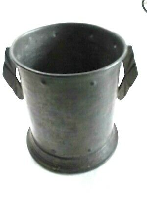 Large Art Deco English Hand Hammered Pewter Loving Cup
