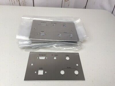 22xStainless Steel Fasure Plates Computer PC Audio USB Video Audio Left Right