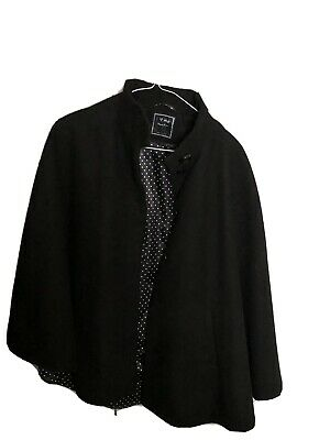 Girls Batwing / Cape Coat Black Age 11/12 Next - Only Worn Once