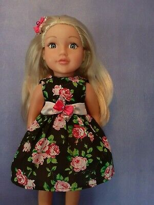 American Girl Our Generation Summer Roses Dress+Hair Clip 18 Inch Doll Cloths