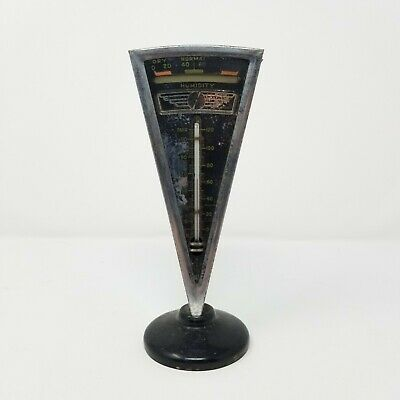 Antique Airdu Thermometer And Barometer Rare