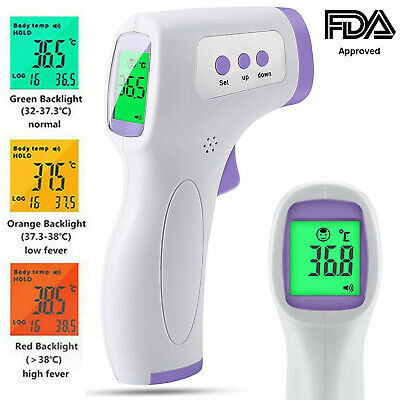 Forehead Thermometer FDA Approved No-Touch Non Contact Adult Temperature Fever