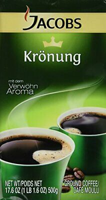 Jacobs Kronung Ground Coffee 500 Gram / 17.6 Ounce (Pack of 6)