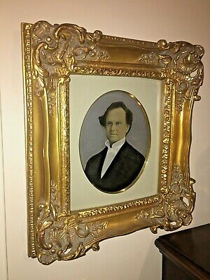 """Fine Hand Painted Portrait In Gorgeous Gold Frame 17"""" by 15"""""""