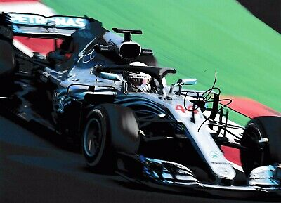 LEWIS HAMILTON AUTHENTIC SIGNED 2019 F1 10x8 PHOTO AFTAL#198