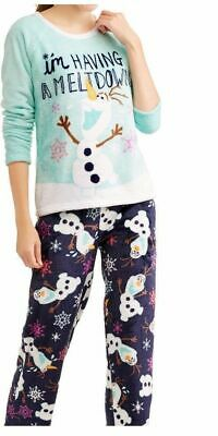 New Disney Olaf From Frozen Ladies Plush Sleep Pants Only! So Soft Size Xl 16-18