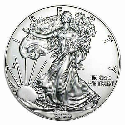 2020 (P) 1 oz Silver American Eagle NGC MS 69 Emergency Production NEW USA SHIP