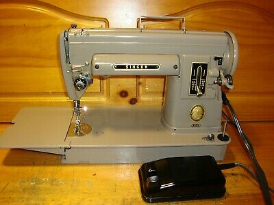 Vintage Singer Sewing Machine Model 301A Slant Needle, Long Bed, Serviced
