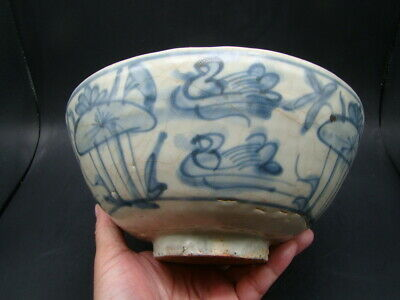 Chinese Ming Dynasty (1368-1644) nice blue white large bowl  x4043