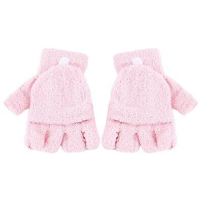Fashion Flip Coral Fleece  Winter Knitted Athletic Comfortable Gloves YD