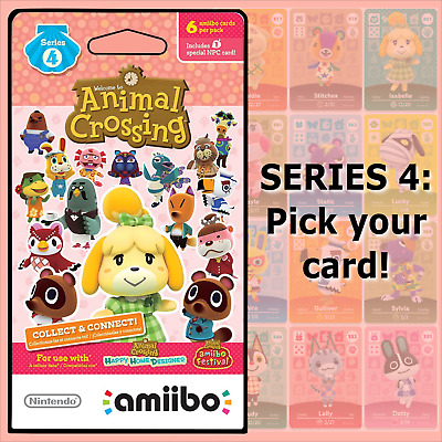 Animal Crossing Amiibo Cards Series 4 #301-400 US/NA Version Authentic OOP MINT!