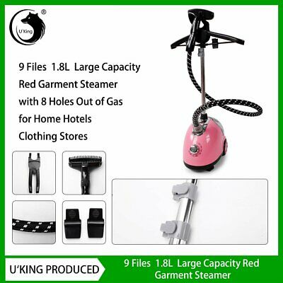 1.8L 1700W Garment Clothes Fabric Steamer Hanger Stand Wrinkle Remove Iron Steam