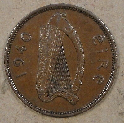 Ireland 1940 Half Penny Better Circulated Grade as Pictured
