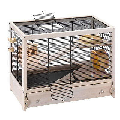 Ferplast HAMSTERVILLE Sturdy Wooden Hamster Home Habitat and Cage (Open Box)