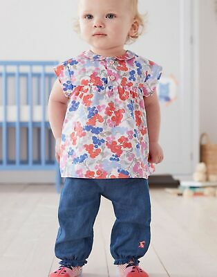 Joules Baby Girls Brenna   Woven Top Shirt And Trouser Set -  Size 12m-18m