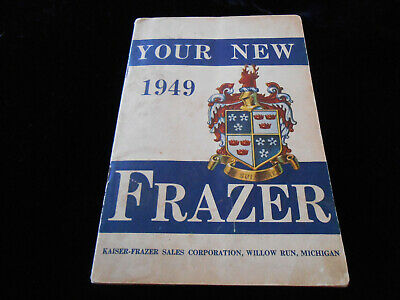 1949 Frazer Owner's Manual & Lubrication Chart and Original Sales Contract