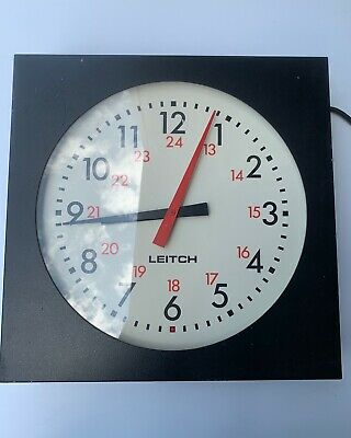 """Leitch ADC-5112 12"""" Wall-Mount Clock"""
