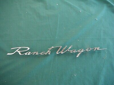 Nos 1962 Ford Station Wagon Ranch Wagon Name Plate 62