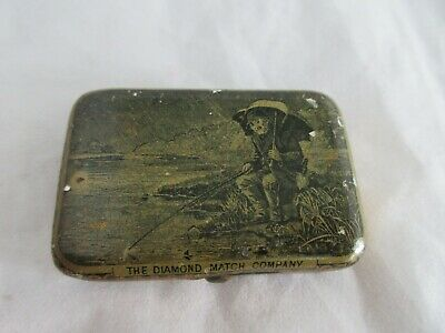 Rare  Advertising The Diamond Match Company Antique  Match Safe Holder