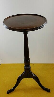 Original 18TH C. ca.1750  Mahogany Queen Anne Kettle/Candle Stand.