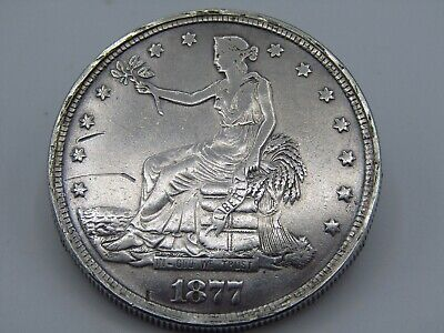 1877-S $1 TRADE DOLLAR OPIUM DOLLAR LOCKET .900 SILVER WELL MADE STURDY HINGE z7