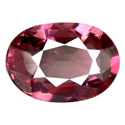 0.80 CT Foire Coupe Ovale (7 X 5 MM ) Tanzanie Rose Malaya Grenade Naturel Gemme