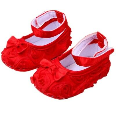 10X(Baby Girl Comfortable AntiSlip Princess Toddler Shoes (12-18 month, Red Y7O3