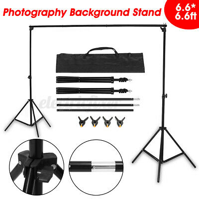 2M Adjustable Photography Background Support Stand Studio Backdrop Crossbar