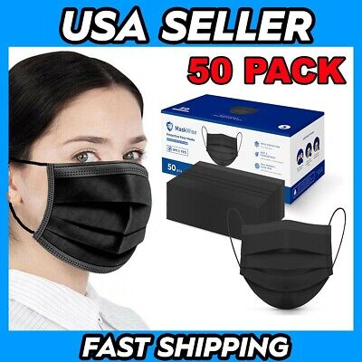 50 Pack Protective Face Masks USA Seller Fast Shipping!