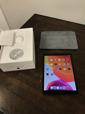 "Apple iPad 7th Gen 32GB WiFi Only 10.2"" Space Gray Mint n Box w/ kyboard - CV975"