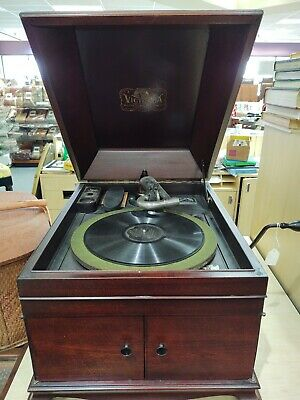 Antique Victrola Victor Talking Machine 1904 Patent, WORKS!!!