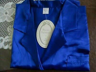 Satin Nightshirt Sapphire**X/L**By Avon Private Treasures  *New*1994*Old Stock