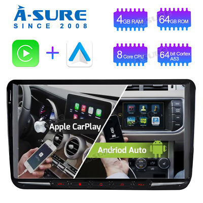 Octa Core 4GB RAM Android 9.0 64 GB ROM GPS Autoradio Navi für VW Touran Golf 5