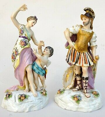 Exceptional Pair Of Antique French Porcelain Figurines