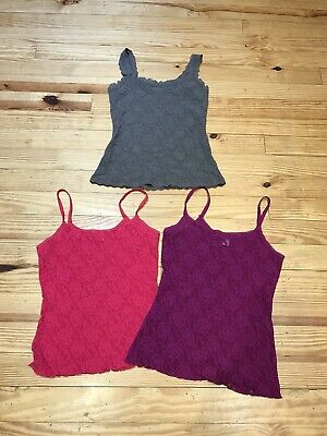 Hanky Panky Lot of 3 LACE Tank Camisole Cami size Small