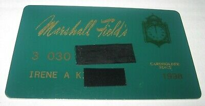 Vintage 1998 Marshall Field's Dept Store Credit Card Clock Graphic FREE Ship